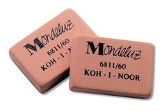 Ластик MONDELUZ 6811, 31х21х8мм, для карандашей НВ-6Н