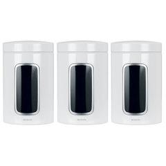 Набор контейнеров для сыпучих продуктов с окном (1,4 л), 3 шт., Белый