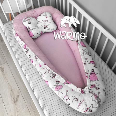 Кокон (гнездышко) для новорожденных Warmo™ БАЛЕРИНЫ
