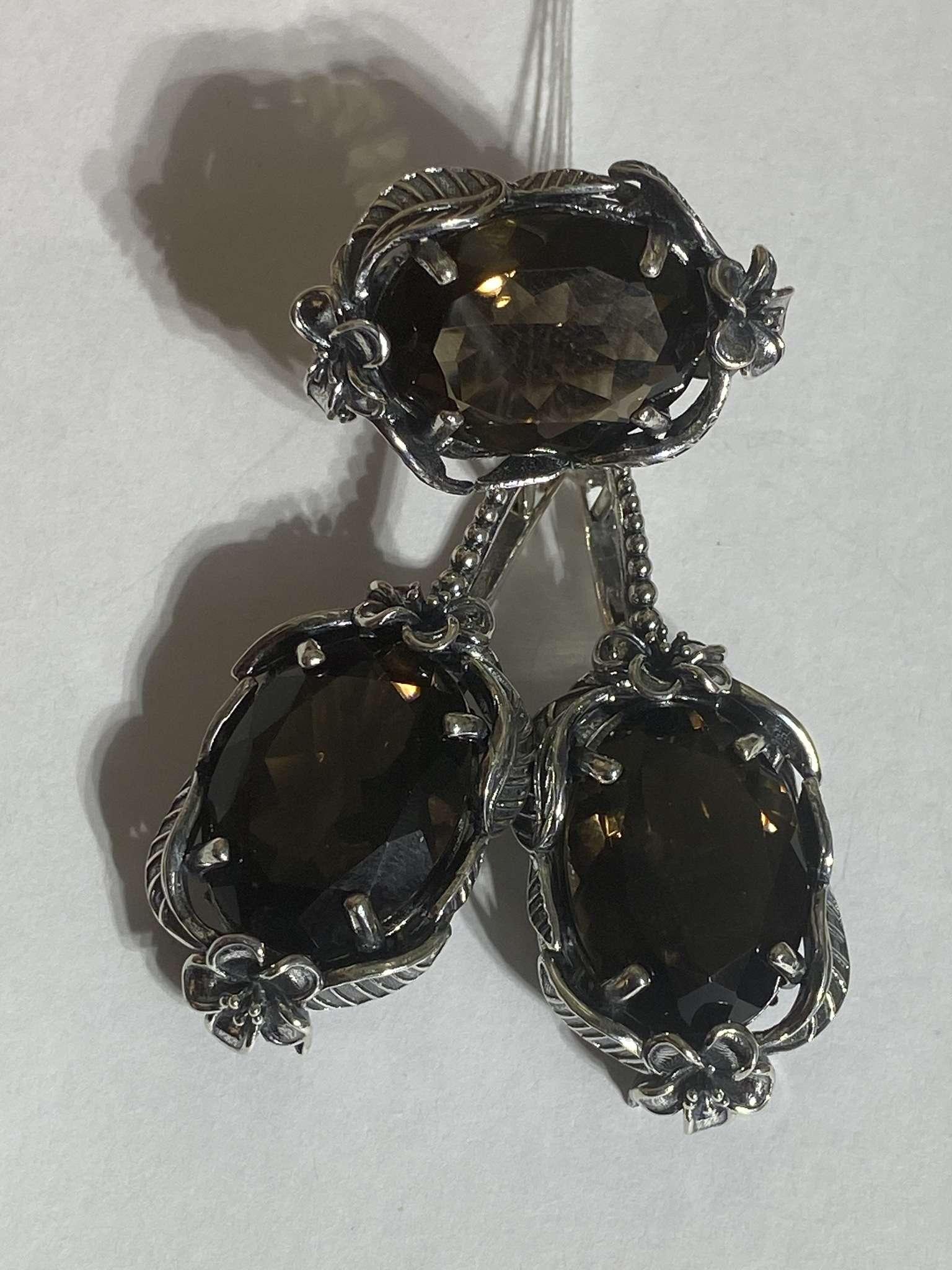 Флода-раух (кольцо + серьги из серебра)