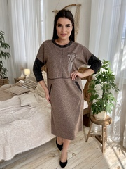 Ярослава. Зручне стильне плаття плюс сайз. Мокко