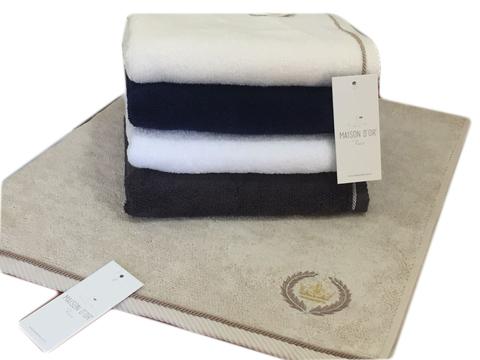 Подарочный набор из 4 махровых салфеток Пьер Лотти, цвета в ассортименте