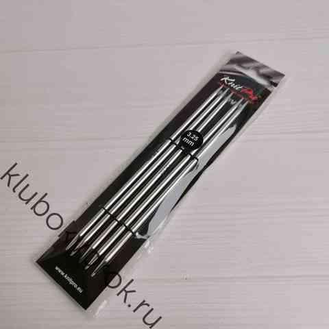 Спицы чулочные Knit Pro Nova Metal  15 см, № 3,25