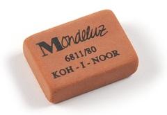 Ластик MONDELUZ 6811, 26х19х8мм, для карандашей НВ-6Н