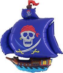 "Фигура ""Пиратский корабль"" синий"