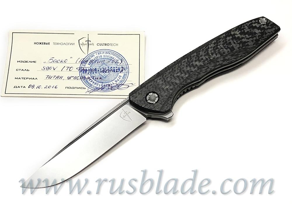 Basko S90V CF Prototype knife by CultroTech Knives
