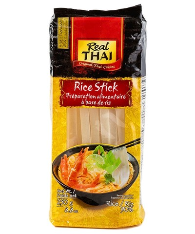 Лапша Рисовая 10 мм Real THAI, 250 гр. (ЭксИм Пасифик)