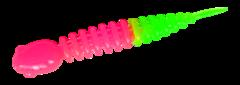 Силиконовые приманки Trout Bait Chub 65 (65 мм, цвет: Розово-зелёный, запах: сыр, банка 12 шт.)