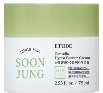 Etude House Soon Jung Centella Hydro Barrier Cream крем для чувствительной кожи 75мл
