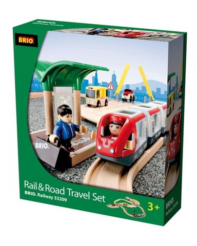 BRIO Железная дорога с переездом, 33 элемента