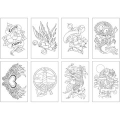 Раскраска-склейка Chameleon Color Cards Tattoo
