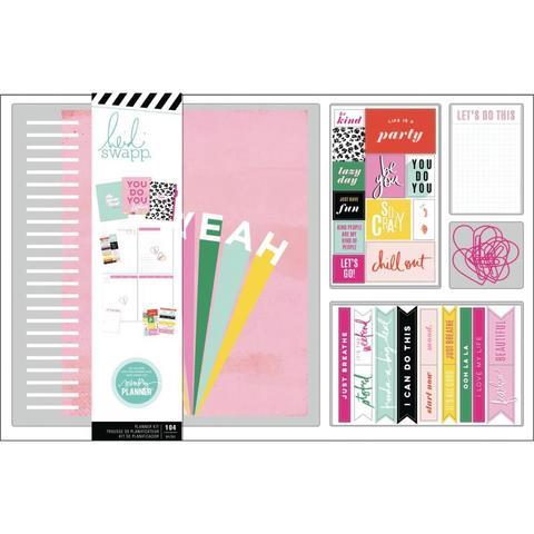 Набор- Ежедневник с наполнением и комплект украшений. Heidi Swapp Large Memory Planner Spiral Bound Boxed Kit - Color Fresh, Oh Yeah