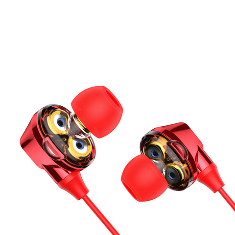 Наушники Baseus Encok S10 Dual Moving-coil Bluetooth Headset Red
