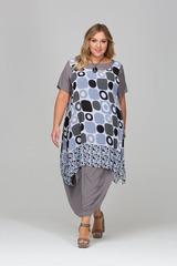 Платье-кокон с шифоновой накидкой 417123
