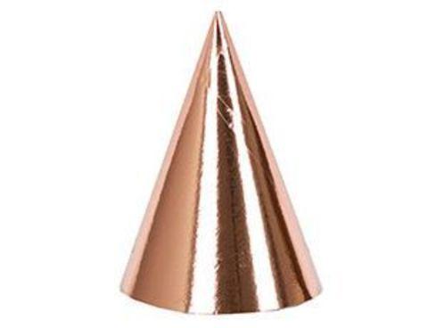 Колпак фольг розовое золото 6шт/G