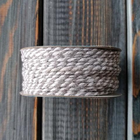 Шнур хлопковый двухцветный (25м) бело-