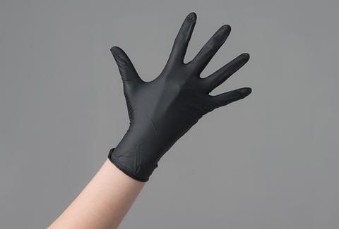 Перчатки нитрил  черные Safe&Care M, 100 шт