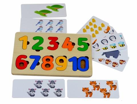Рамка-вкладыш Цифры с карточками RadugaKids (Радуга Кидс) арт. RK1118