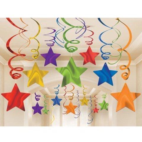 Спираль Звезда радуга 46-60см, 30 шт