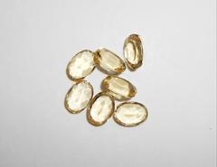 Аквамарин жёлтый (берилл, гелиодор) 7 x 5 мм овал