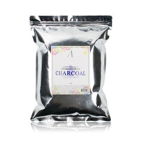 ANSKIN Маска альгинатная для жирной кожи с расширенными порами (пакет) Charcoal Modeling Mask / Refill 1 кг