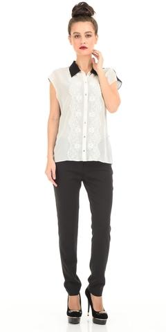 Фото темно-коричневые брюки прямого кроя - Брюки А415-533 (1)