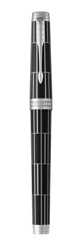 Перьевая ручка Parker Premier  Luxury, F565, Black PT, перо: F123