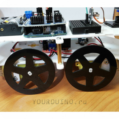 Колесо для робота плоское 66 мм