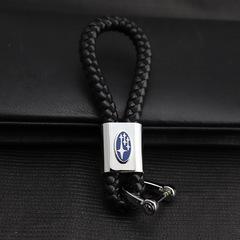 Изящный брелок для ключей с кожаным ремешком Субару (Subaru)