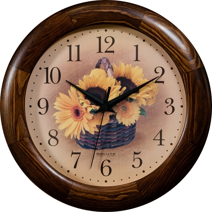 Настенные часы Салют ДС-ББу28-300 ПОДСОЛНУХИ