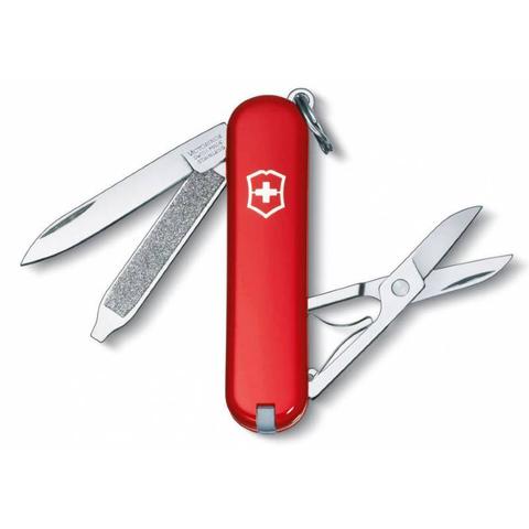 Нож Victorinox Classic, 58 мм, 7 функций, красный, блистер123