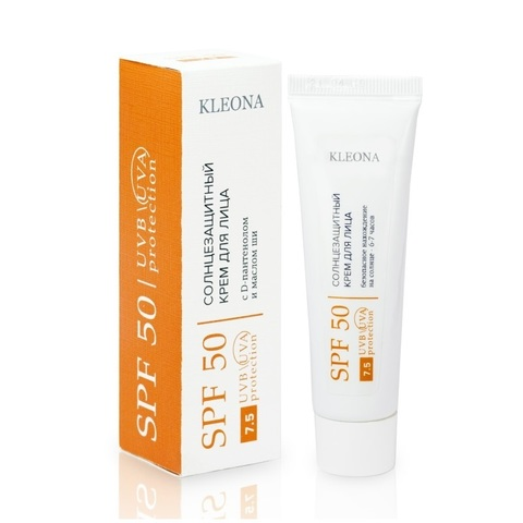 Солнцезащитный крем для лица SPF 50 | Kleona