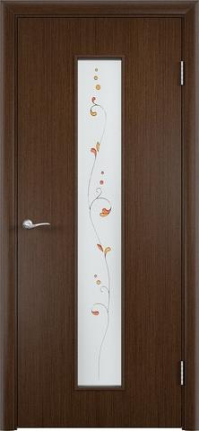 Дверь Верда С-21, стекло Сатинато (Изумруд), цвет венге, остекленная