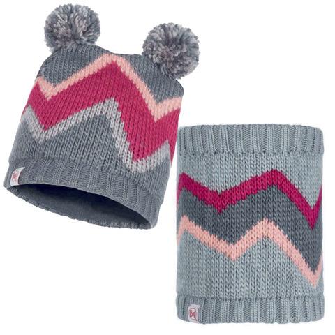 Комплект детский шапка-шарф Buff Arild Grey фото 2