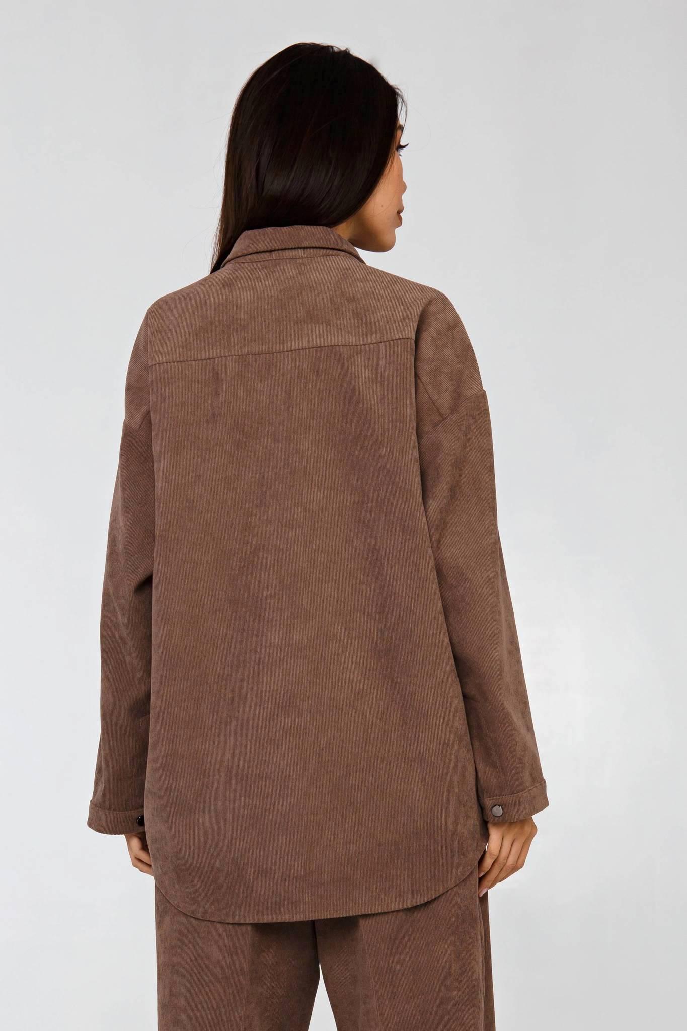 Вельветовый костюм в рубчик коричневый YOS от украинского бренда Your Own Style