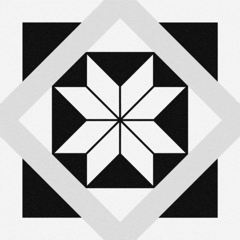 Керамогранит CERSANIT Stream 298x298 геометрия белый