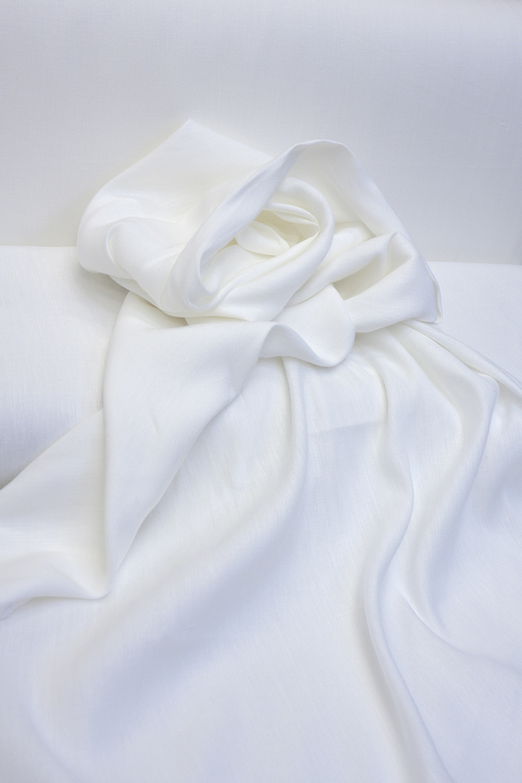 Лен с вискозой смягченный, цвет белый