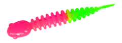 Силиконовые приманки Trout Bait Chub 65 (65 мм, цвет: Розово-зелёный, запах: чеснок, банка 12 шт.)