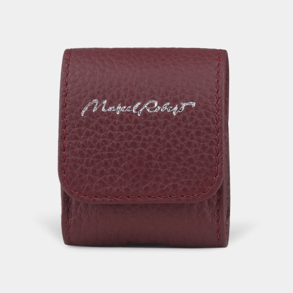 AirPods leather case  - bordeaux
