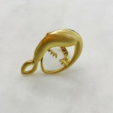 Кольцо Девушка с косой (золотистый) Vi