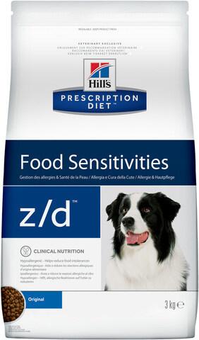 купить хиллс Hill's™ Prescription Diet™ z/d™ Food Sensitivities сухой корм для собак, диетический рацион при пищевых аллергиях