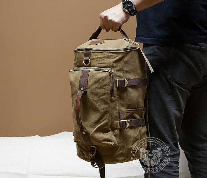 BAG368-2 Стильная и вместительная сумка рюкзак с ремнем на плечо фото 06