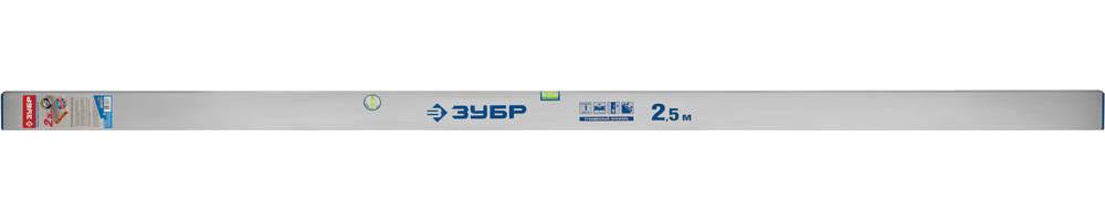 Правило-уровень ППУ, без ручек, 2.5 м, ЗУБР 10753-2.5