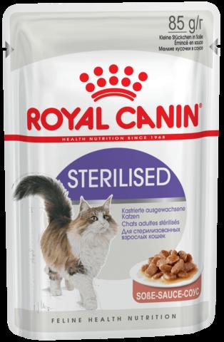 Влажный корм для стерилизованных кошек (в соусе)