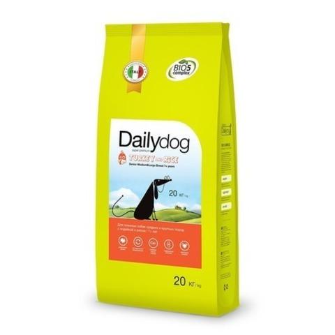 Сухой корм Dailydog Senior Medium Large Breed для пожилых собак средних и крупных пород с индейкой и рисом, 20 кг.