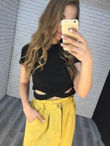 юбка летняя желтая купить