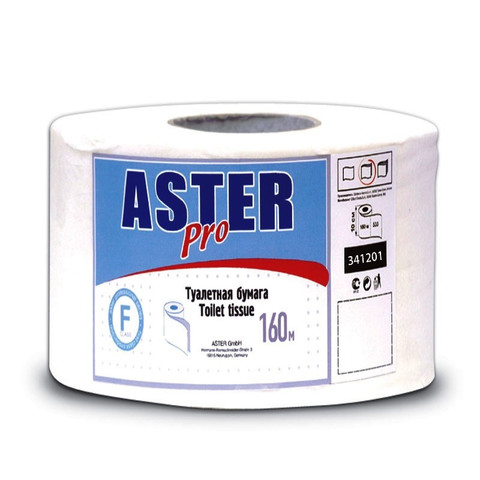 Бумага туалетная в рулонах Aster 2-слойная 12 рулонов по 160 метров (артикул производителя 341201)