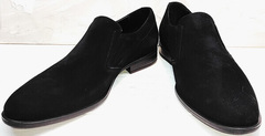 Классические замшевые туфли черные мужские Ikoc 3410-7 Black Suede.