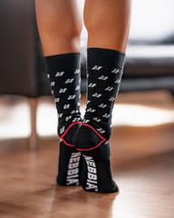 Высокие носки Nebbia 104 N-pattern knee-high black