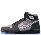 Кроссовки Nike Air Jordan 1 Retro Dior Grey\Black